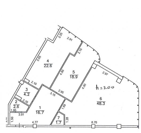 Планировки двухкомнатных квартир 118 м^2